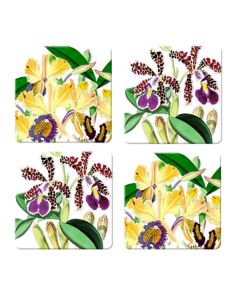 Coaster orchid set of 4