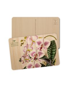 Orchid Wooden Postcard